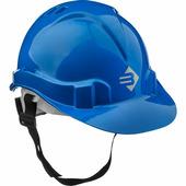 Каска защитная ЗУБР размер 52-62 см, храповый механизм регулировки размера, синий 11094-3