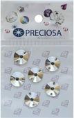 """Стразы пришивные Preciosa """"Риволи Crystal"""", 2 отверстия, 10 мм, 6 шт"""