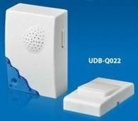 Volpe звонок беспроводной, 30м, 16 мелодий, индикатор, бел., блистер UDB-Q022 W-R1T1-16S-30M-WH