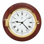 Часы кварцевые настенные Barigo Captin 1587MS 210 x 50 мм из красного дерева