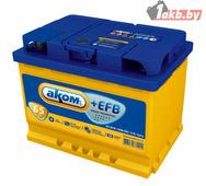 Гелевый аккумулятор АКОМ AKOM +EFB 6CT-65 Евро (65 A/h), 650А R+