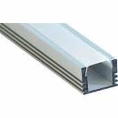 Профиль накладной алюминиевый Feron 2м матовый экран 2 заглушки 4 крепежа для светодиодных лент (CAB261) 10266