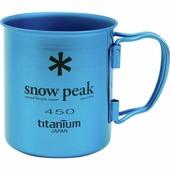Кружка Snow Peak титановая Ti-Single 450 голубой 0.45Л