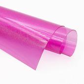 Пленка цветная в мелкую крапинку, цвет розовый, размер 15x20см
