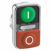 Лампы, кнопки, звонки, переключатели Schneider Electric Головка кнопки двойная с маркировкой, с подсветкой, (зеленый I - красный O) Schneider Electric, ZB4BW7L3741