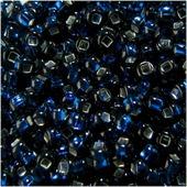 "Бисер ""Preciosa"" глянцевый с серебристым центром, цвет: синий (67100), 10/0, 5 г"
