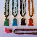 Подвески и шнурки Прочие производители Ожерелье с кулоном абстракция (разные цвета, 5 см.), 1 шт.