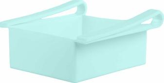 """Контейнер для холодильника Homsu """"Для кухни"""", цвет: голубой, 16 x 15 x 7 см"""