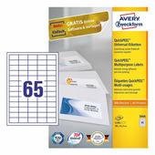 Самоклеющаяся бумага для принтера, белая, 38x21.2 мм (65 шт. на листе A4, 100 листов) {3666}