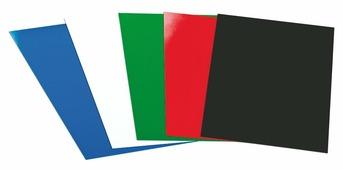 Обложки для переплета, А4, 180мкм, прозр. красные (Диктум)