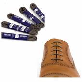 Вощеные шнурки Saphir (круглые, тонкие) (Цвет-15 Темно-серый Размер-75 см)