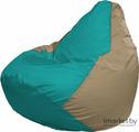 Кресло-мешок Flagman Груша Мега Г3.1-289 бирюзовый/темно-бежевый
