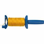 Отвес строительный со шнуром ЗУБР 100 м, нейлоновый, желтый, шнур для строительных работ 06410-100