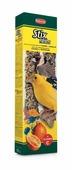 """Лакомство Padovan """"Антистрессовые"""" для канареек и экзотических птиц, палочки с травами, 2 шт х 60 г"""