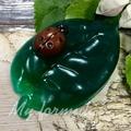 Весенний листок - форма для мыла пластиковая