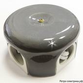 Ретро коробка 78мм Царский стиль, цвет Серый