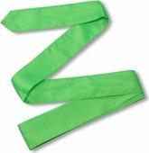 Лента гимнастическая Indigo, без палочки, цвет: зеленый, 6 м