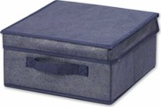 Коробка для хранения Hausmann Blue Line, с крышкой, синий, 30 х 30 х 15 см