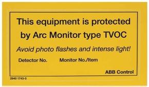 Шильдик информационный 10 шт. для TVOC-2 ABB, 1SFA663005R1001