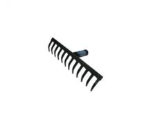 Грабли металлические 16 прямых зубьев без черенка