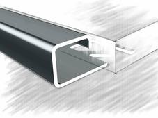 П профиль для плитки из нержавеющей стали 12мм полированный 270 см