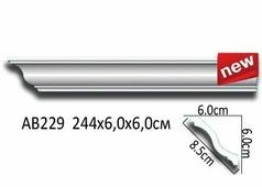 Лепнина Перфект Потолочный плинтус гладкий АВ229