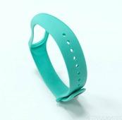 Силиконовый браслет для Xiaomi Mi Band 3, Mi Band 4, бирюзовый