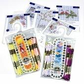 Набор ниток мулине DMC, цвет: разноцветный (NEW 35), 8 м, 35 шт + подарок: органайзер (35 ячеек), схема