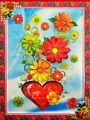 Наклейка ЛиС Объемная картина-наклейка из пластика 32х42см, Цветы
