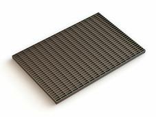 Решетка стальная 390х590 (ячейка 33х11), РБ (для придверного поддона 600х400) (ecoteck)
