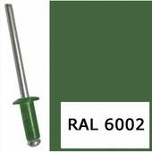 Заклепка вытяжная 4.0х10 мм алюминий/сталь, RAL 6002 (1000 шт в карт. уп.) STARFIX