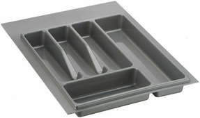 "Лоток для столовых приборов ""Lemax"", цвет: серый, 49 х 34 х 4,5 см"