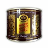 Кофе DELIGHT Indian Instant Coffee Powder JFK (Кофе растворимый, порошкообразный Инстант Делайт), 90 г.
