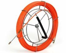 Протяжка из плетеного полиэстера со сменными наконечниками PET-1-4.7/20MK, оранжевая (20 м, катушка) {76663}