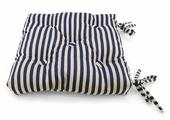 """Подушка на стул KauffOrt """"Мурено"""", цвет: белый, синий, 40 x 40 см. 3121157640"""
