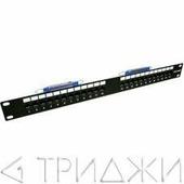 """Патч-панель TELCO, 19"""", 24 порта RJ-45, 1U, контакты 36, 45, TWT"""
