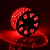 Светодиодный дюралайт 24LED 220-240В 11мм Красный Фиксинг