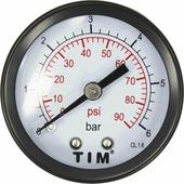 "Манометр аксиальный TIM, 6 Бар, класс точности 1,5, 1/4""н, МР-У"