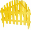 "Забор декоративный Palisad ""Винтаж"", цвет: желтый, 28 см х 3 м"