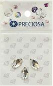 """Стразы пришивные Preciosa """"Груша Crystal"""", 2 отверстия, 12 х 7 мм, 3 шт"""