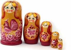 Матрешка Miland Золотая, пятикукольная, МС-1876-10160, мультиколор
