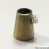 Цанговый зажим для провода металлический, цвет: бронза