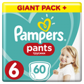 Подгузники-трусики PAMPERS Pants 6 Extra Large от 15 кг 60 штук (8001090995179)