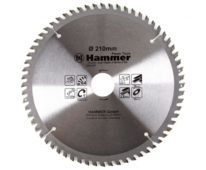 Диск пильный Hammer Flex 205-207 CSB PL 210мм*64*30/20мм по ламинату, , шт
