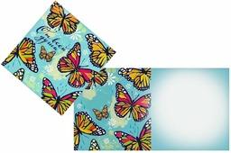 "Открытка Дарите cчастье ""Бабочки"", 7 х 7 см"