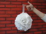 """Деко- шар """"Белые розы"""" Ø25 см (1шт)"""