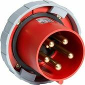 2125 BU6W Вилка панельная с прямым фланцем 2125BU6W, 125A, 2P+E, IP67, 6ч ABB, 2CMA167195R1000