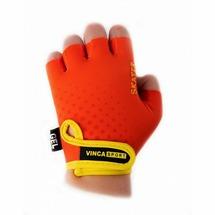 Велоперчатки Vinca Sport детские Rose (5, orange/yellow)