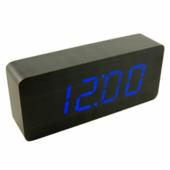 Часы VST-865 черный с синей подсветкой