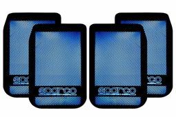 Брызговики Алекс-Авто Брызговик универсальный для внедорожников карбон металлик синий, компл 4шт, 0012/1, синий